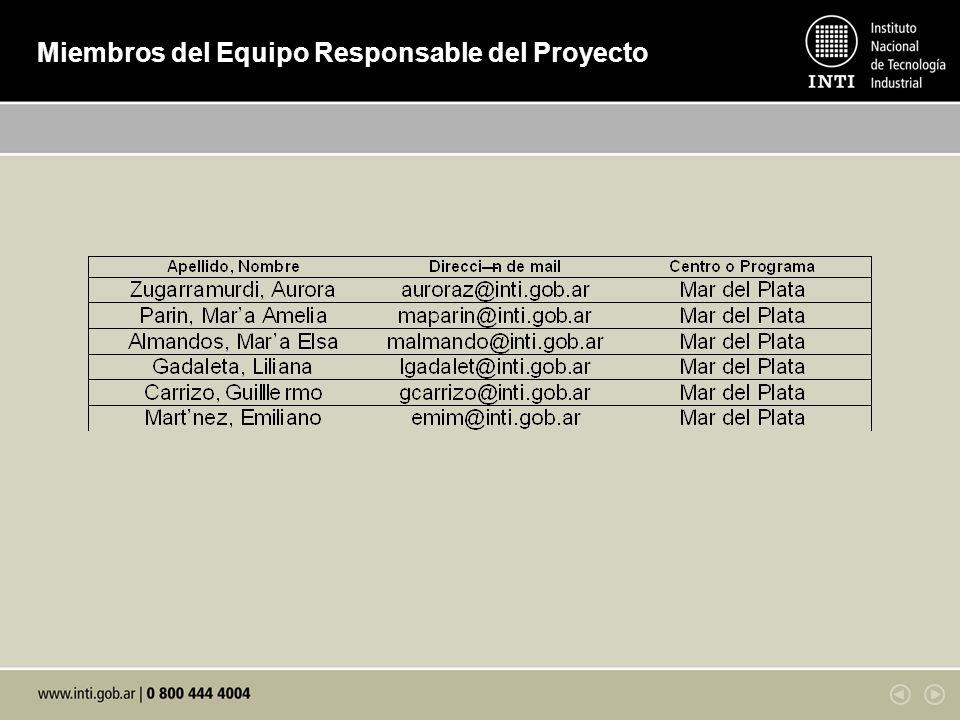 Otros participantes del proyecto INTI Concepción del Uruguay (Procesamiento de pollos y aves) Ing.