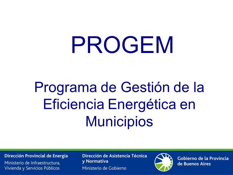 PROGEM Programa de Gestión de la Eficiencia Energética en Municipios