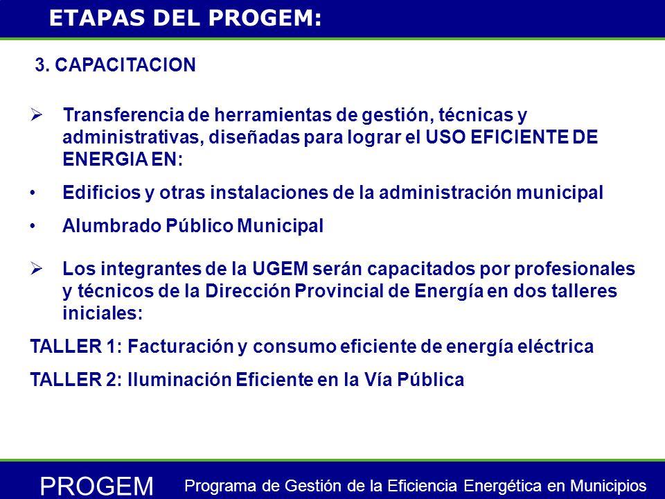 PROGEM Programa de Gestión de la Eficiencia Energética en Municipios 4.
