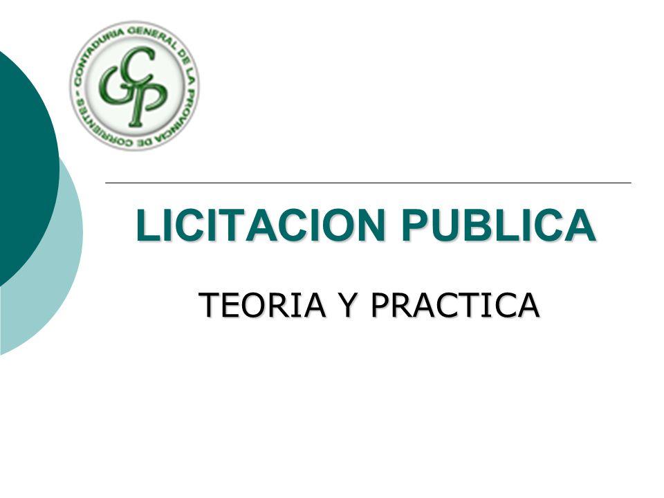 LICITACION PUBLICA TEORIA Y PRACTICA