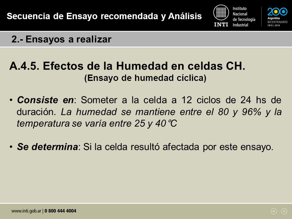 A.4.5.Efectos de la Humedad en celdas CH.