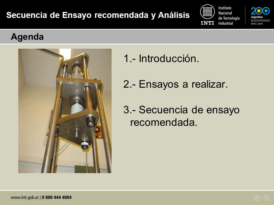 Condiciones de Ensayo.A.3.1 Equipo de ensayo: Sistema generador de fuerza.