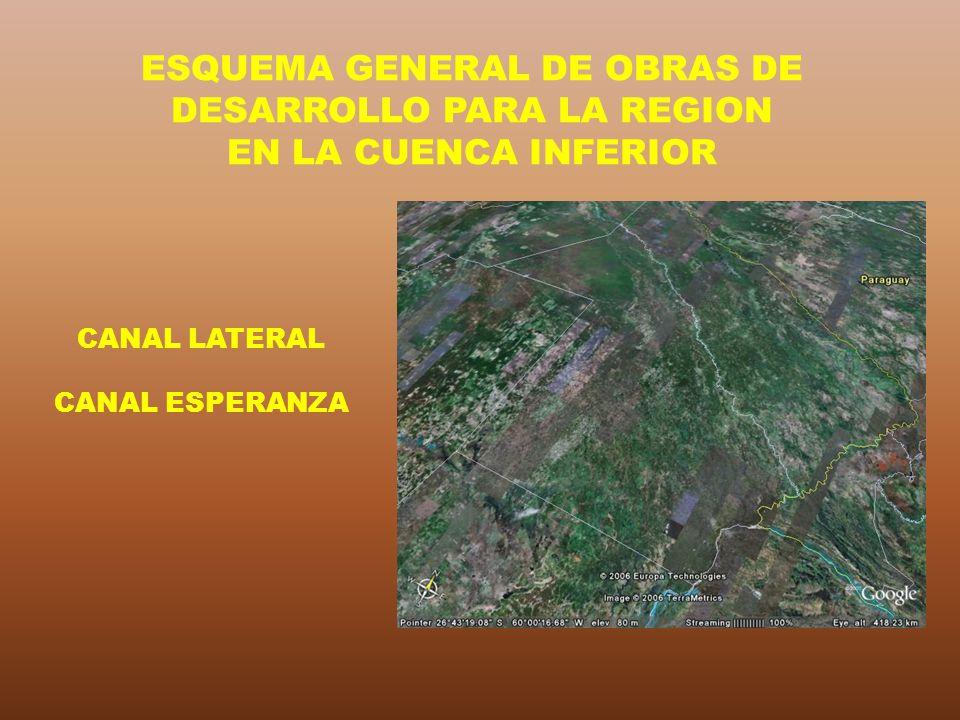 CANAL LATERAL CANAL ESPERANZA ESQUEMA GENERAL DE OBRAS DE DESARROLLO PARA LA REGION EN LA CUENCA INFERIOR