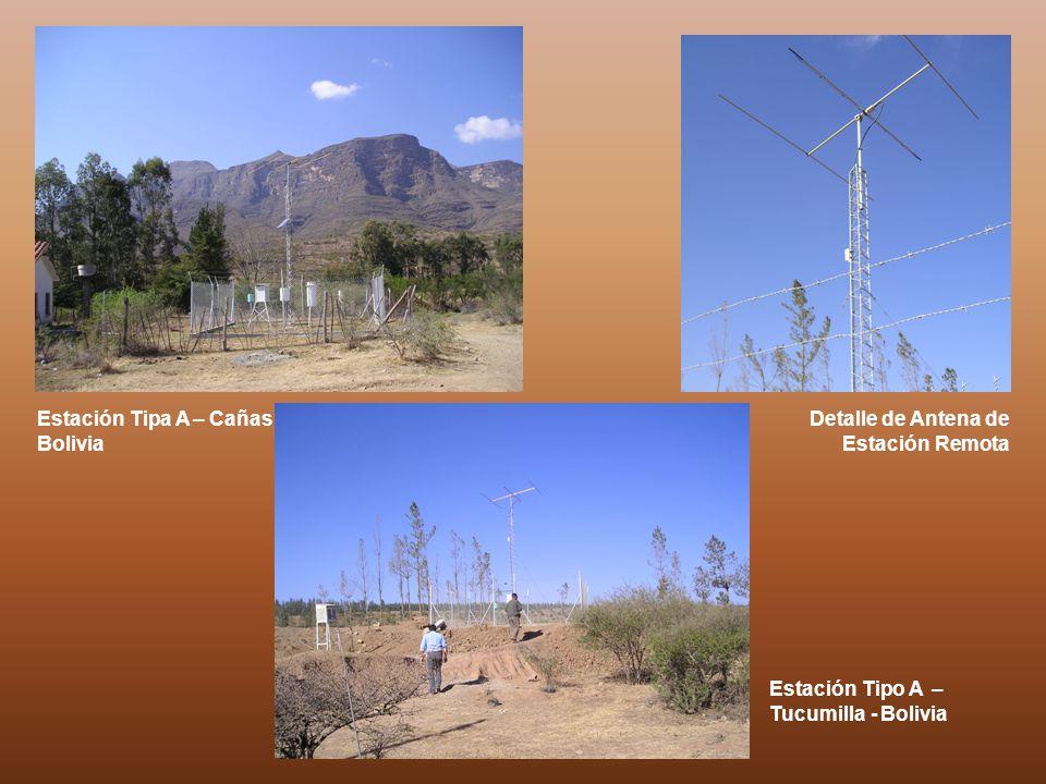 Estación Tipa A – Cañas Bolivia Estación Tipo A – Tucumilla - Bolivia Detalle de Antena de Estación Remota