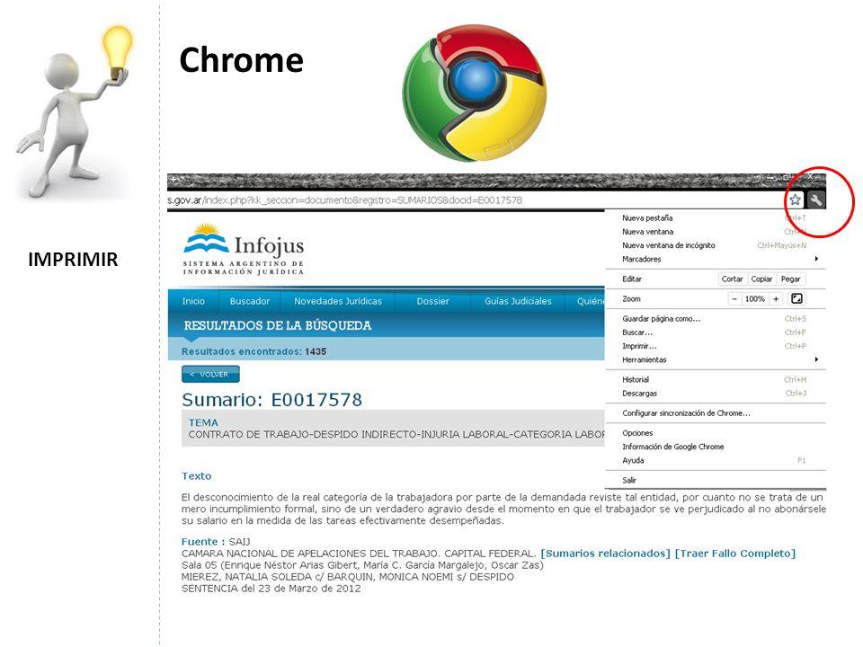 IMPRIMIR Chrome