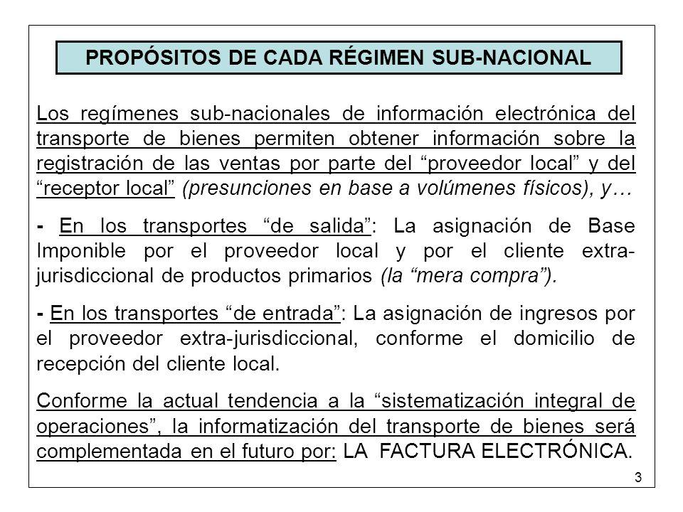 4 LA INFORMACIÓN PARCIAL DE LOS TRANSPORTES Características de los actuales regímenes de información: FALTA DE UNIFORMIDAD en cuanto al tipo de transporte a informar, y en cuanto a los agentes obligados a informar.