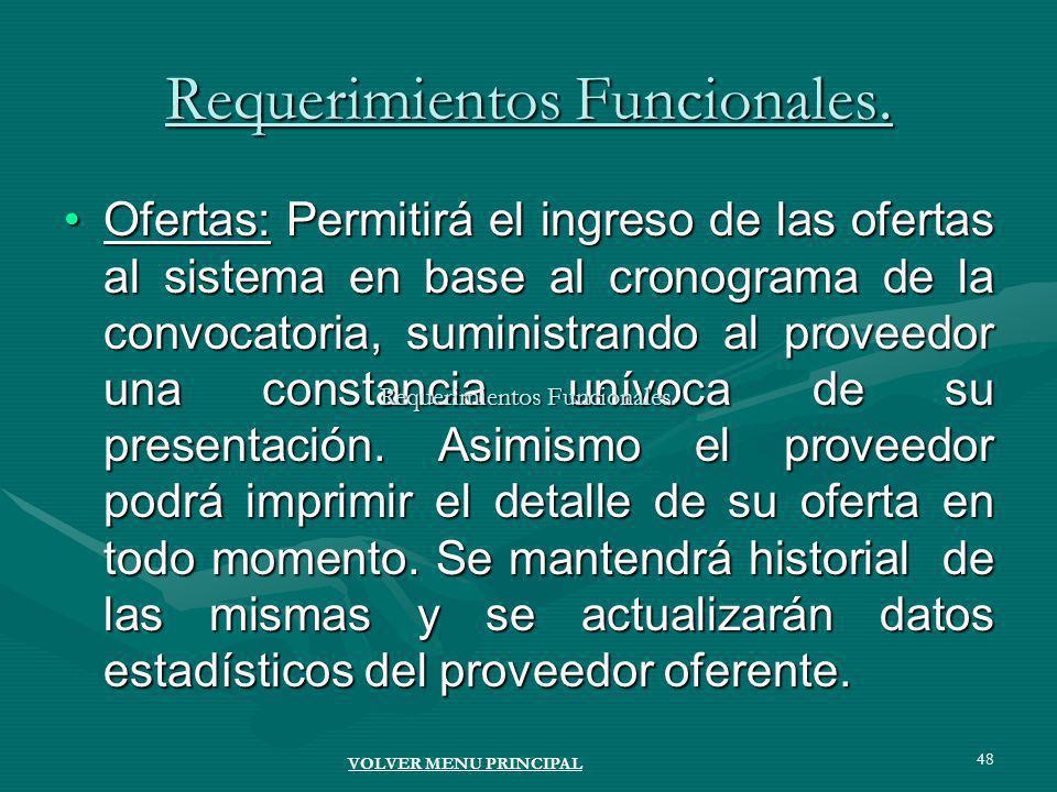 48 Requerimientos Funcionales.