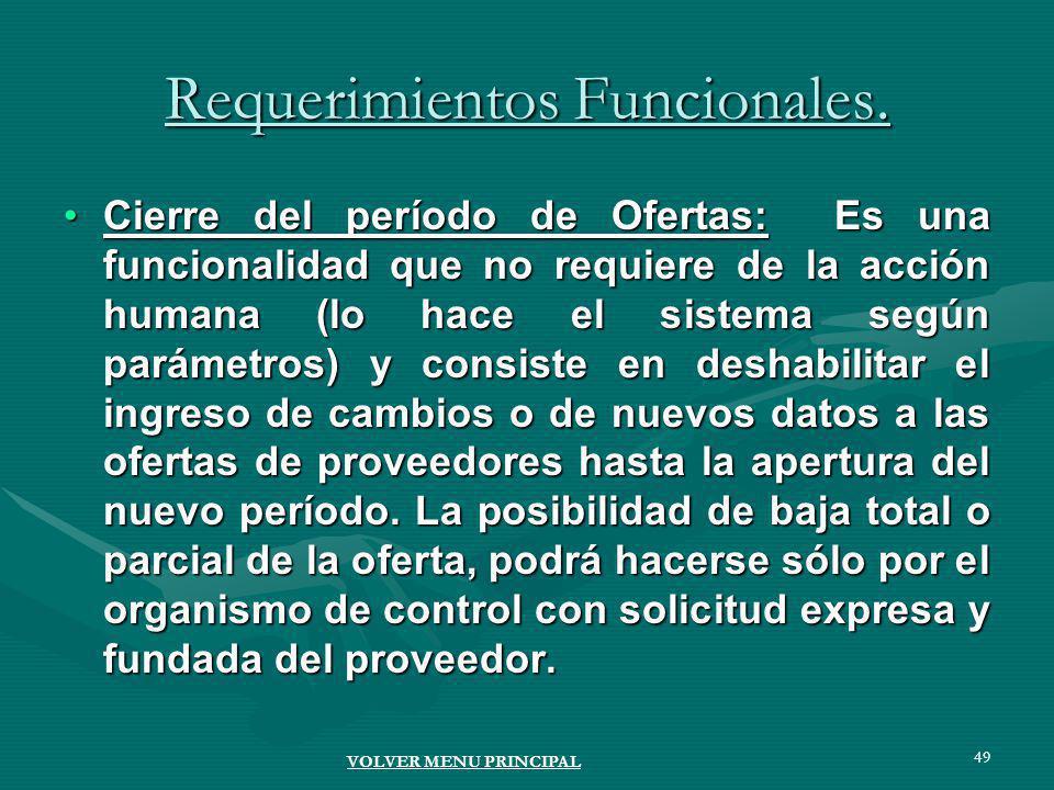 49 Requerimientos Funcionales.