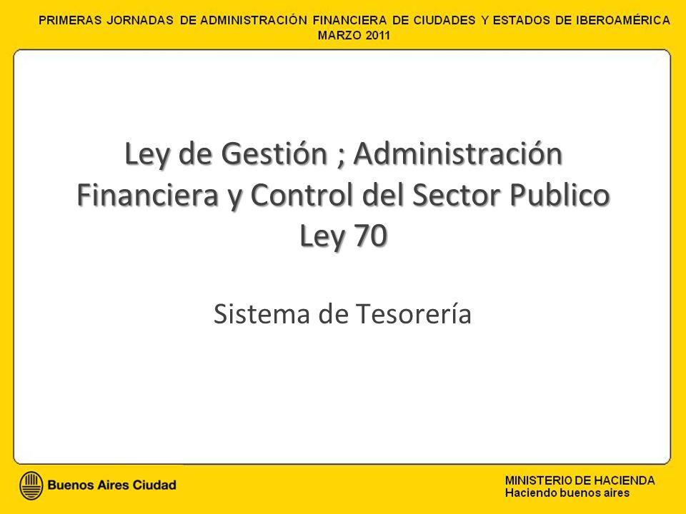 Ley de Gestión ; Administración Financiera y Control del Sector Publico Ley 70 Sistema de Tesorería