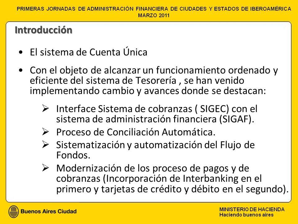 El sistema de Cuenta Única Con el objeto de alcanzar un funcionamiento ordenado y eficiente del sistema de Tesorería, se han venido implementando camb