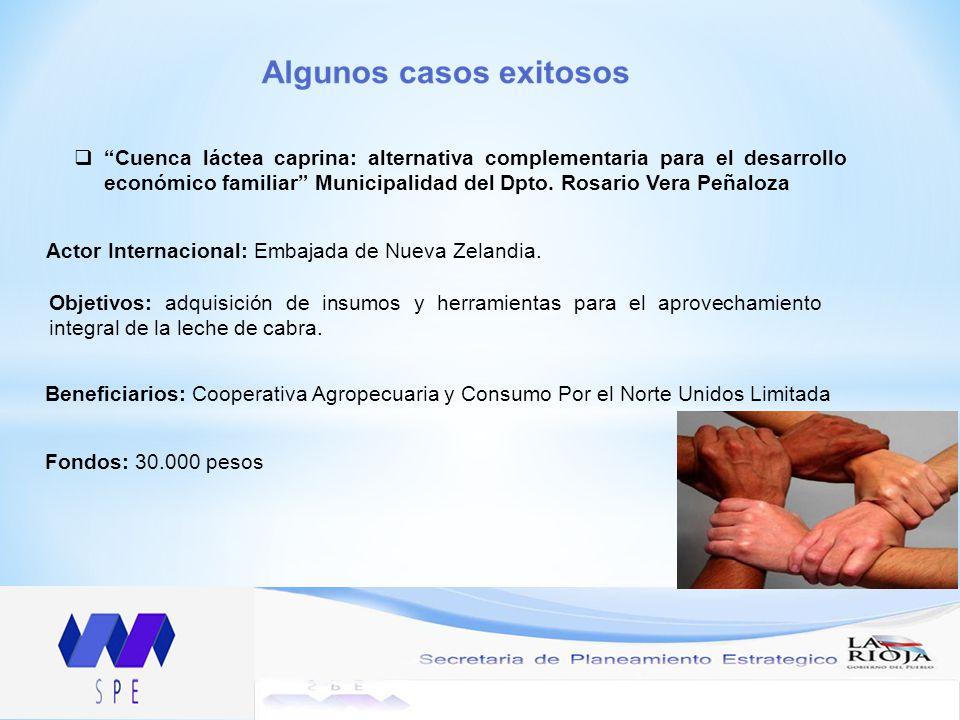 Cuenca láctea caprina: alternativa complementaria para el desarrollo económico familiar Municipalidad del Dpto.