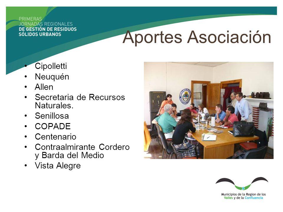 Aportes Asociación Cipolletti Neuquén Allen Secretaria de Recursos Naturales.