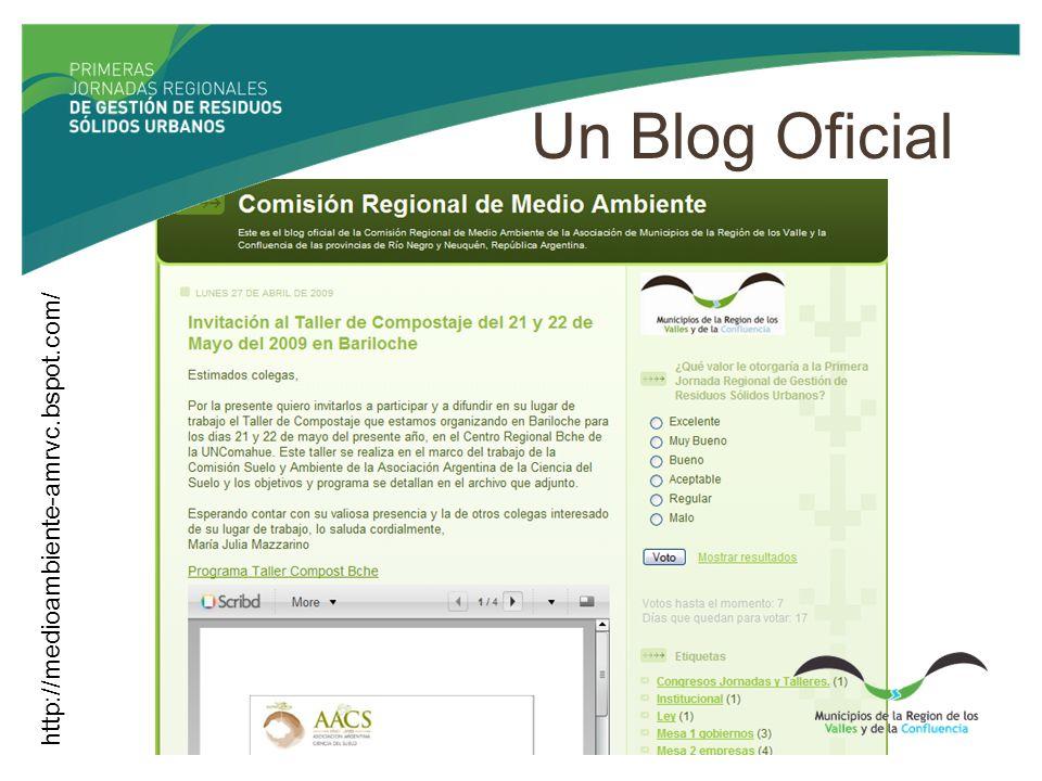 Un Blog Oficial http://medioambiente-amrvc.bspot.com/