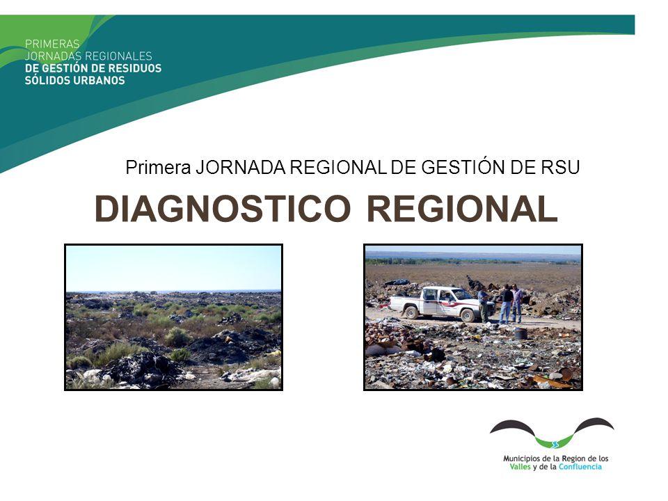 DIAGNOSTICO REGIONAL Primera JORNADA REGIONAL DE GESTIÓN DE RSU