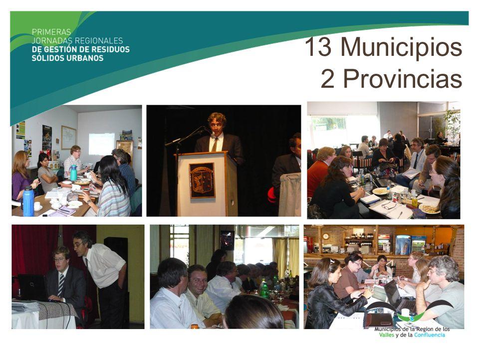 13 Municipios 2 Provincias