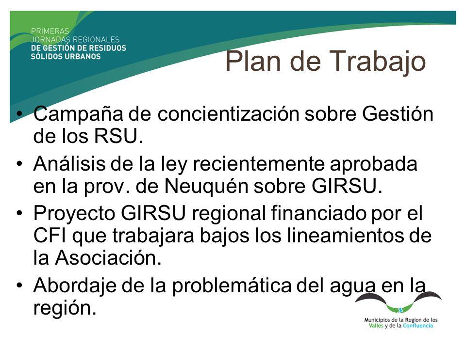 Plan de Trabajo Campaña de concientización sobre Gestión de los RSU.