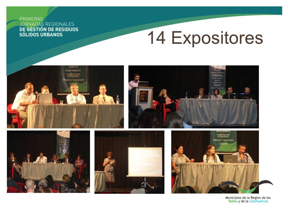 14 Expositores