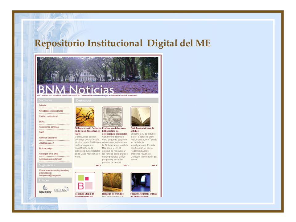 Repositorio Institucional Digital del ME