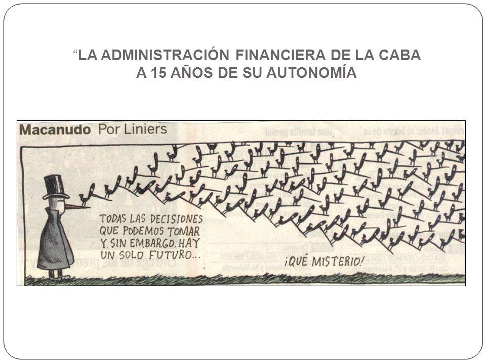 LA ADMINISTRACIÓN FINANCIERA DE LA CABA A 15 AÑOS DE SU AUTONOMÍA