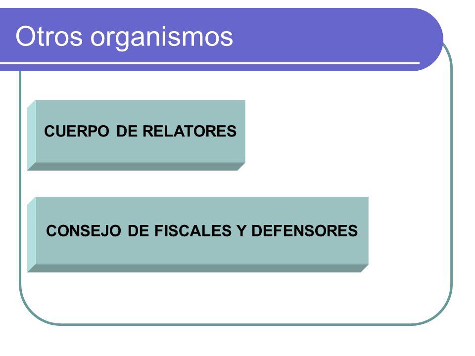 Otros organismos CUERPO DE RELATORES CONSEJO DE FISCALES Y DEFENSORES