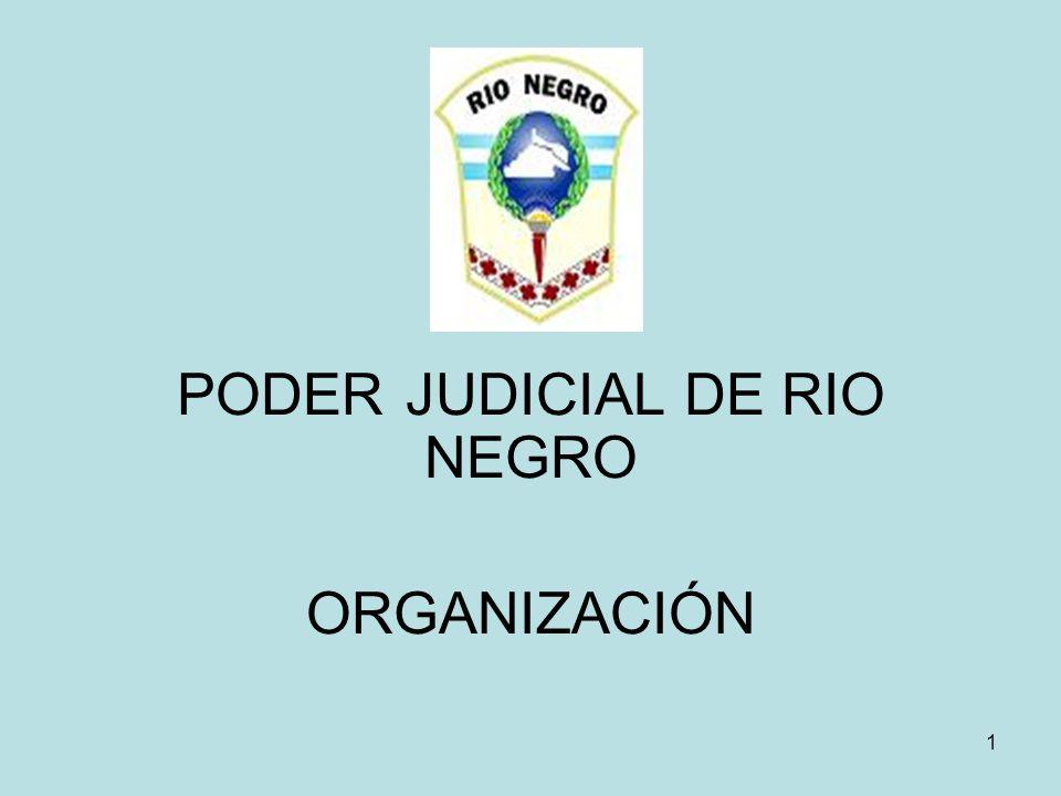 1 PODER JUDICIAL DE RIO NEGRO ORGANIZACIÓN