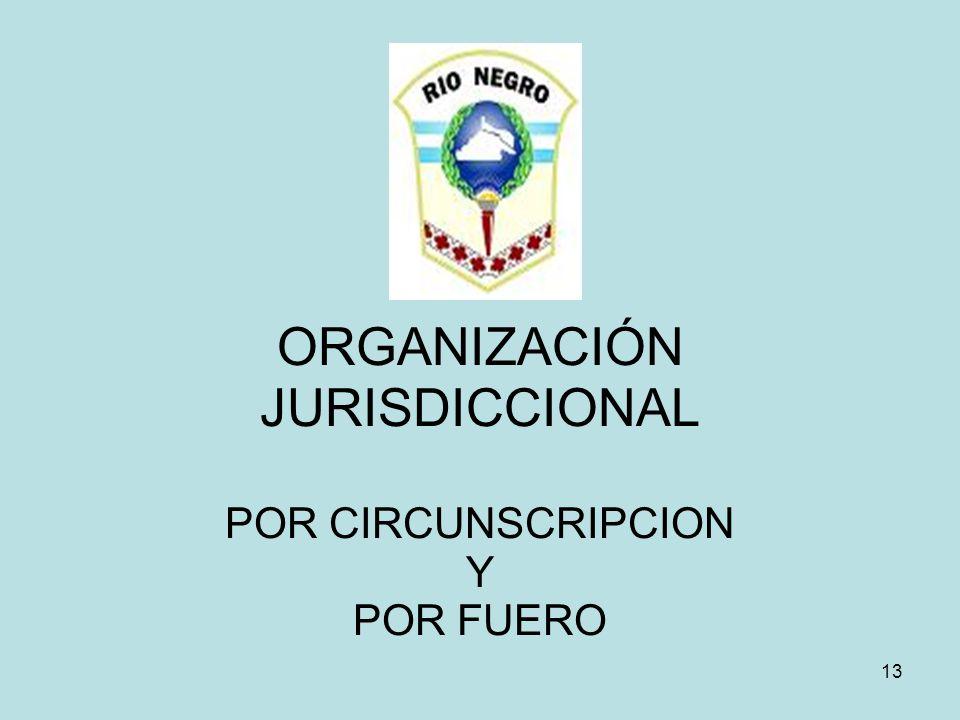 13 ORGANIZACIÓN JURISDICCIONAL POR CIRCUNSCRIPCION Y POR FUERO