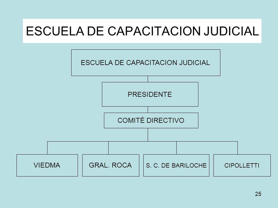25 ESCUELA DE CAPACITACION JUDICIAL S. C. DE BARILOCHECIPOLLETTI GRAL. ROCAVIEDMA PRESIDENTE COMITÉ DIRECTIVO