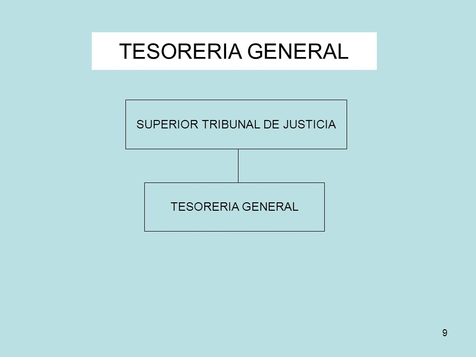 9 TESORERIA GENERAL SUPERIOR TRIBUNAL DE JUSTICIA TESORERIA GENERAL