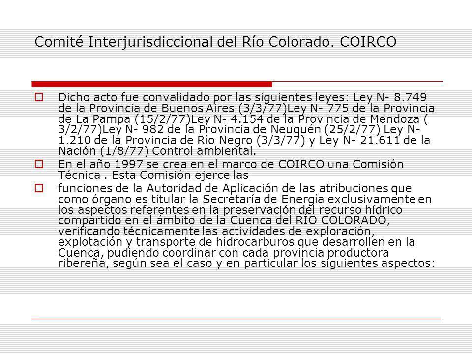 Comité Interjurisdiccional del Río Colorado.