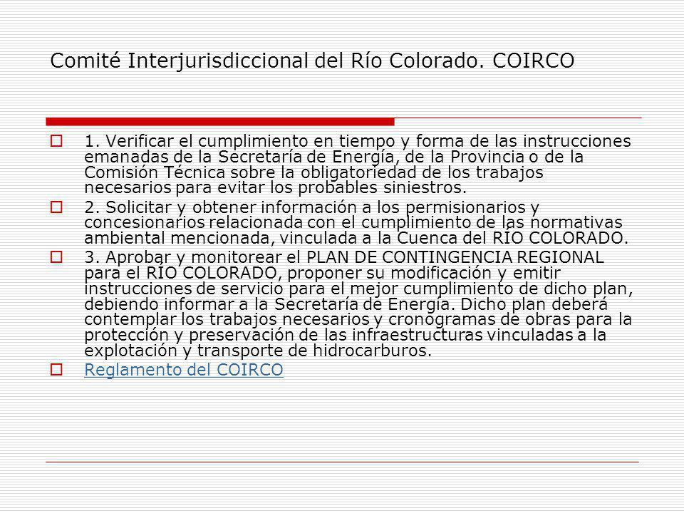 Comité Interjurisdiccional del Río Colorado.COIRCO 1.
