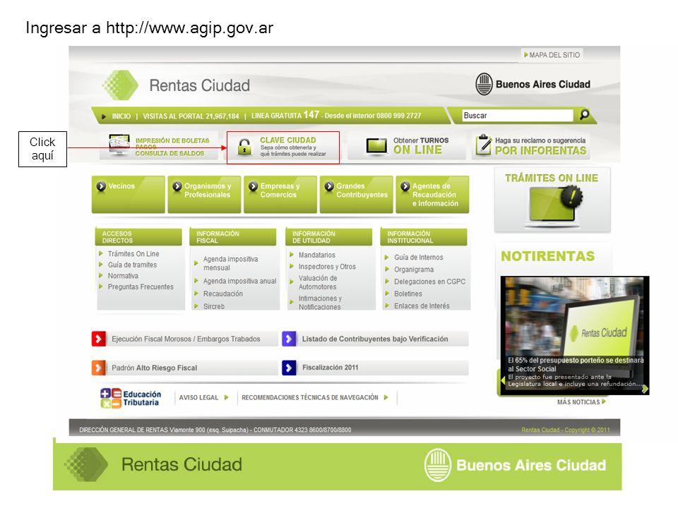 Click aquí Ingresar a http://www.agip.gov.ar