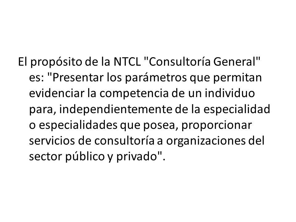 El propósito de la NTCL