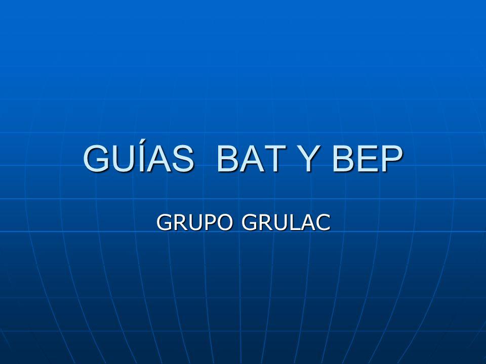 GUÍAS BAT Y BEP GRUPO GRULAC