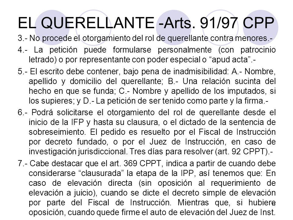 EL QUERELLANTE -Arts.