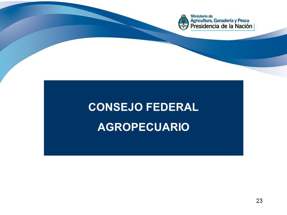 23 REGIONES Y MESAS CONSEJO FEDERAL PARA EL DESARROLLO ECON Y SOCIAL CONSEJOFEDERAL AGROECUARIO INTER MESAS CONSEJO FEDERAL AGROPECUARIO