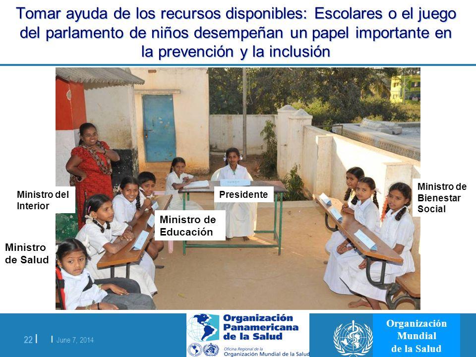 | June 7, 2014 22 | Organización Mundial de la Salud Ministro de Salud Tomar ayuda de los recursos disponibles: Escolares o el juego del parlamento de