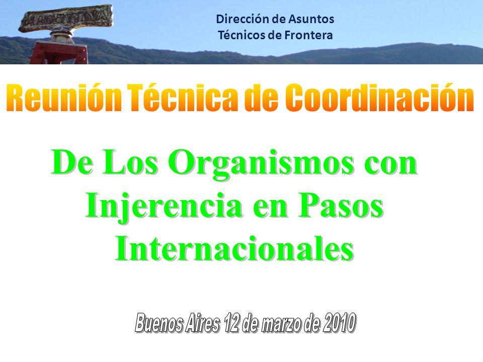 Dirección de Asuntos Técnicos de Frontera De Los Organismos con Injerencia en Pasos Internacionales