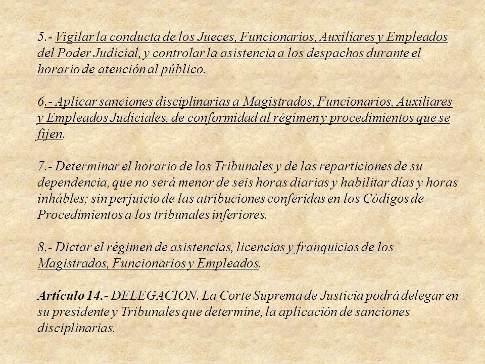 Artículo 15.- ATRIBUCIONES DEL PRESIDENTE.