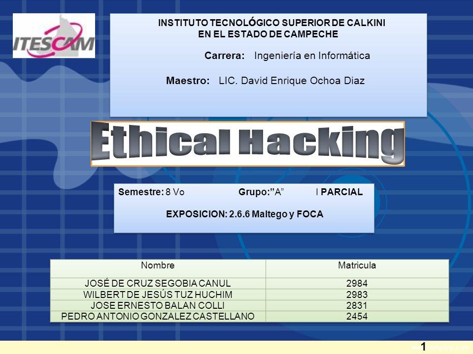 www.company.com INSTITUTO TECNOL Ó GICO SUPERIOR DE CALKINI EN EL ESTADO DE CAMPECHE Carrera: Ingeniería en Informática Maestro: LIC.