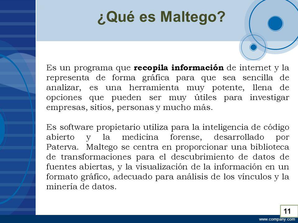 www.company.com ¿Qué es Maltego.