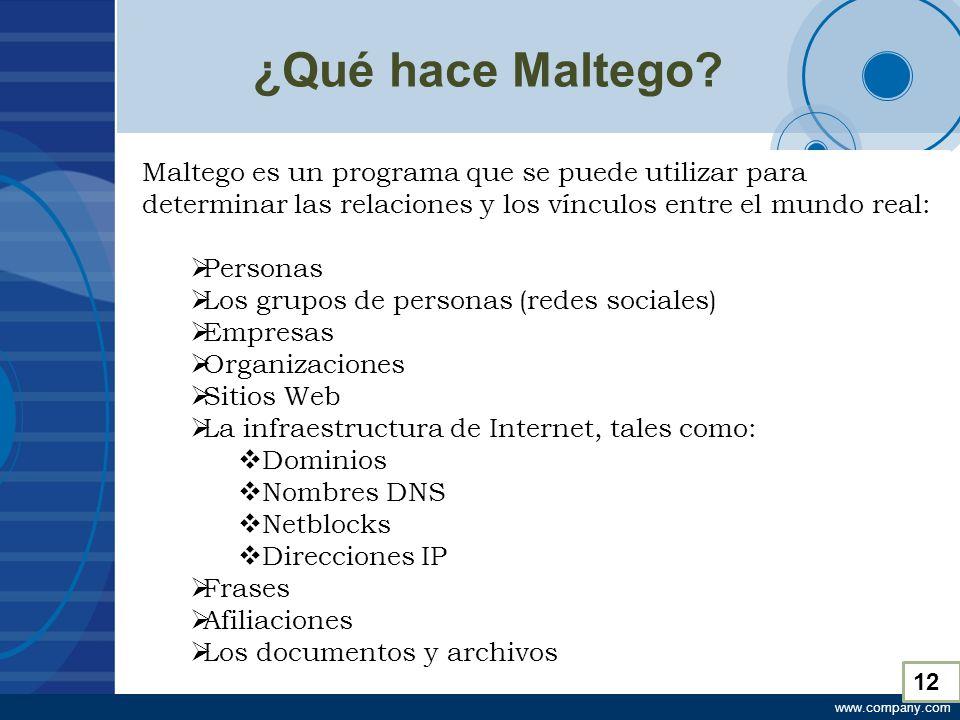 www.company.com ¿Qué hace Maltego.