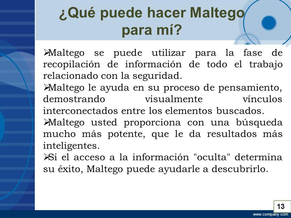 www.company.com ¿Qué puede hacer Maltego para mí.