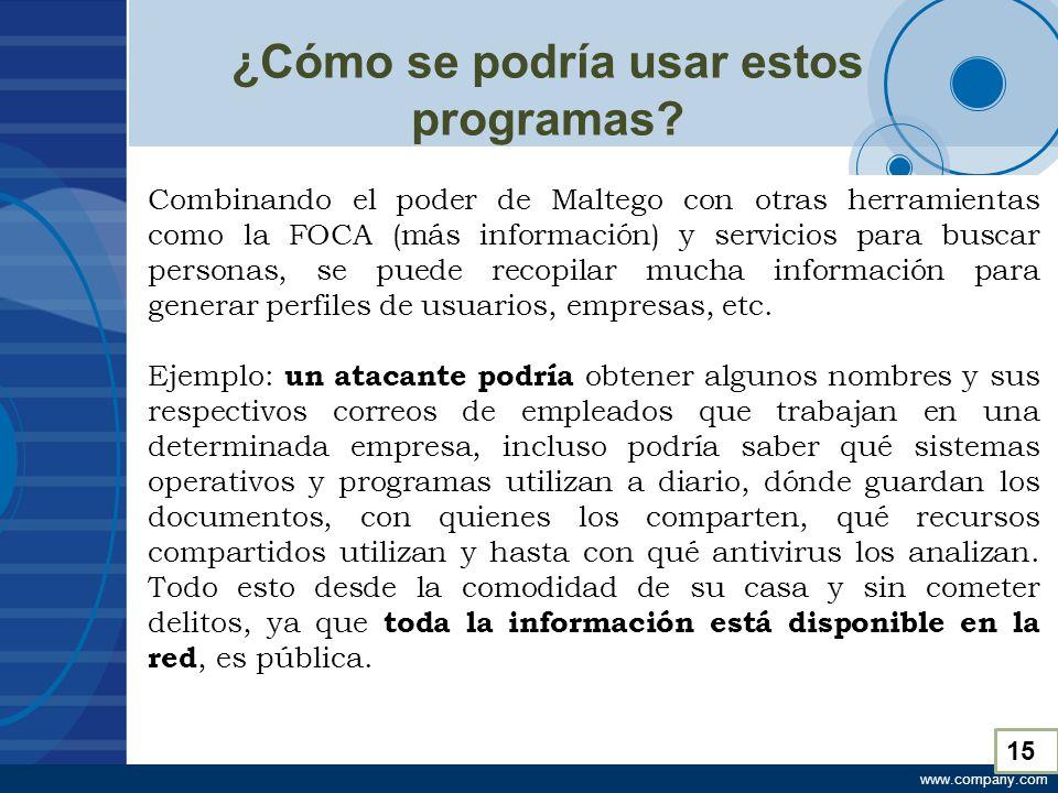 www.company.com ¿Cómo se podría usar estos programas.