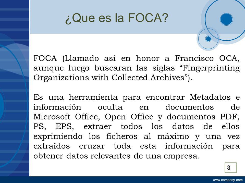 ¿Que es la FOCA.