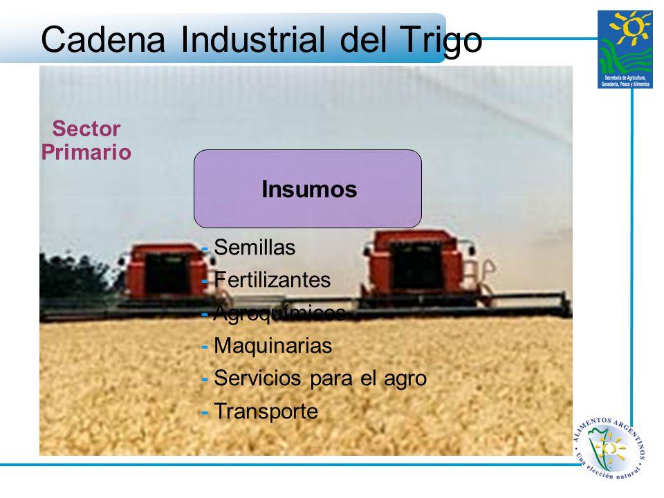 Cadena Industrial del Trigo - Semillas - Fertilizantes - Agroquímicos - Maquinarias - Servicios para el agro - Transporte Sector Primario Insumos