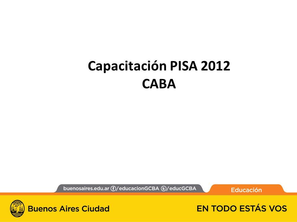 Capacitación PISA 2012 CABA