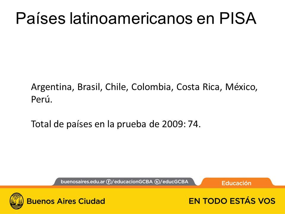 Argentina, Brasil, Chile, Colombia, Costa Rica, México, Perú.