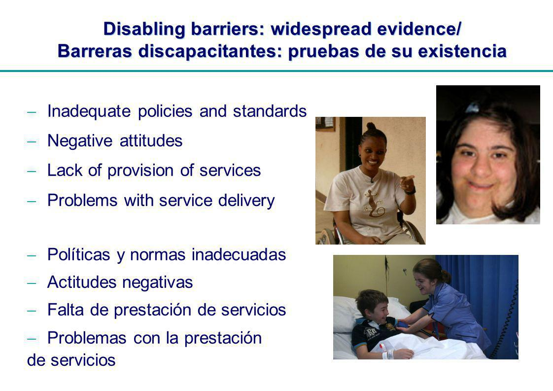 | Assistance and Support: issues and challenges / Asistencia y apoyo: problemas y desafios Even in high income countries, between 20%-40% do not have needs met.
