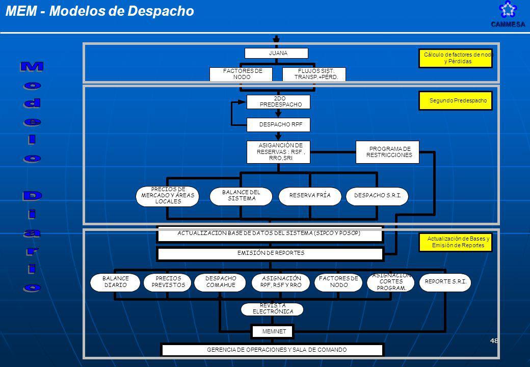 MEM - Modelos de DespachoCAMMESA 48
