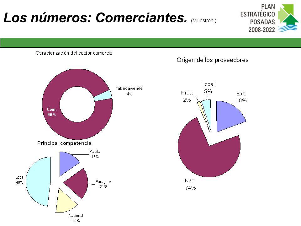 Los números: Comerciantes. (Muestreo.)